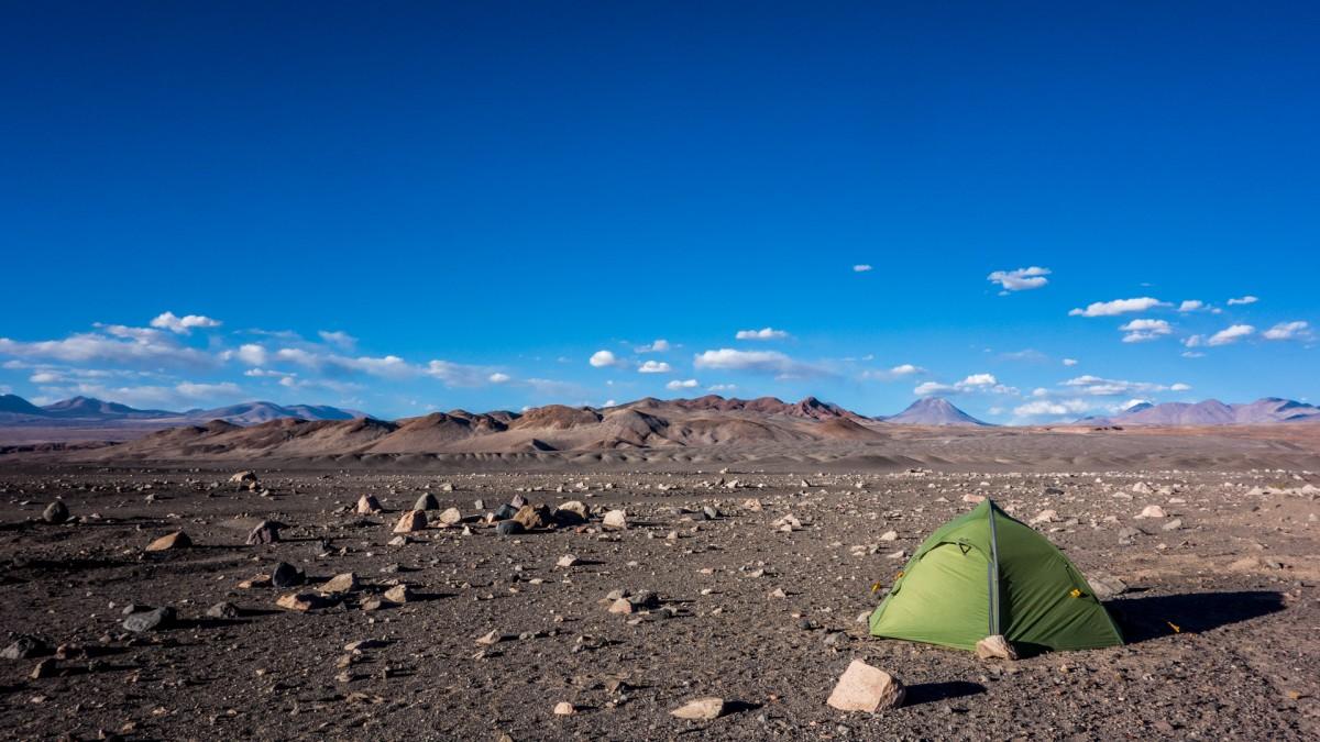 Camping lunaire dans le désert d'Atacama