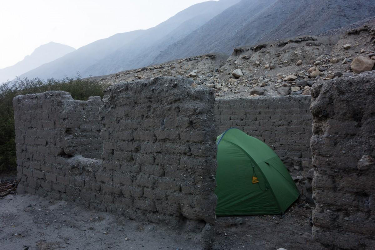 Camping de fortune au Pérou